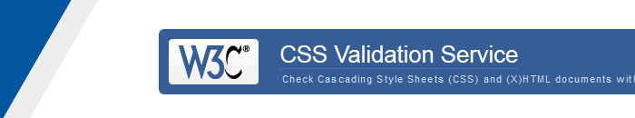 W3C CSS Validation Service | Check Cascading Style Sheets
