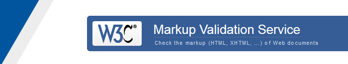 W3c Markup Validation Service | Check the markup (HTML, XHTML, ...) of Web Documents